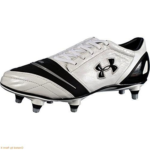 Under Armour Dominate Pro Sg Soccer Shoe- White/black 14 Us
