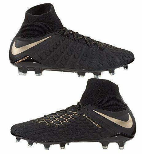 Nike Elite Fit Soccer Cleats, Black/Metallic Viv