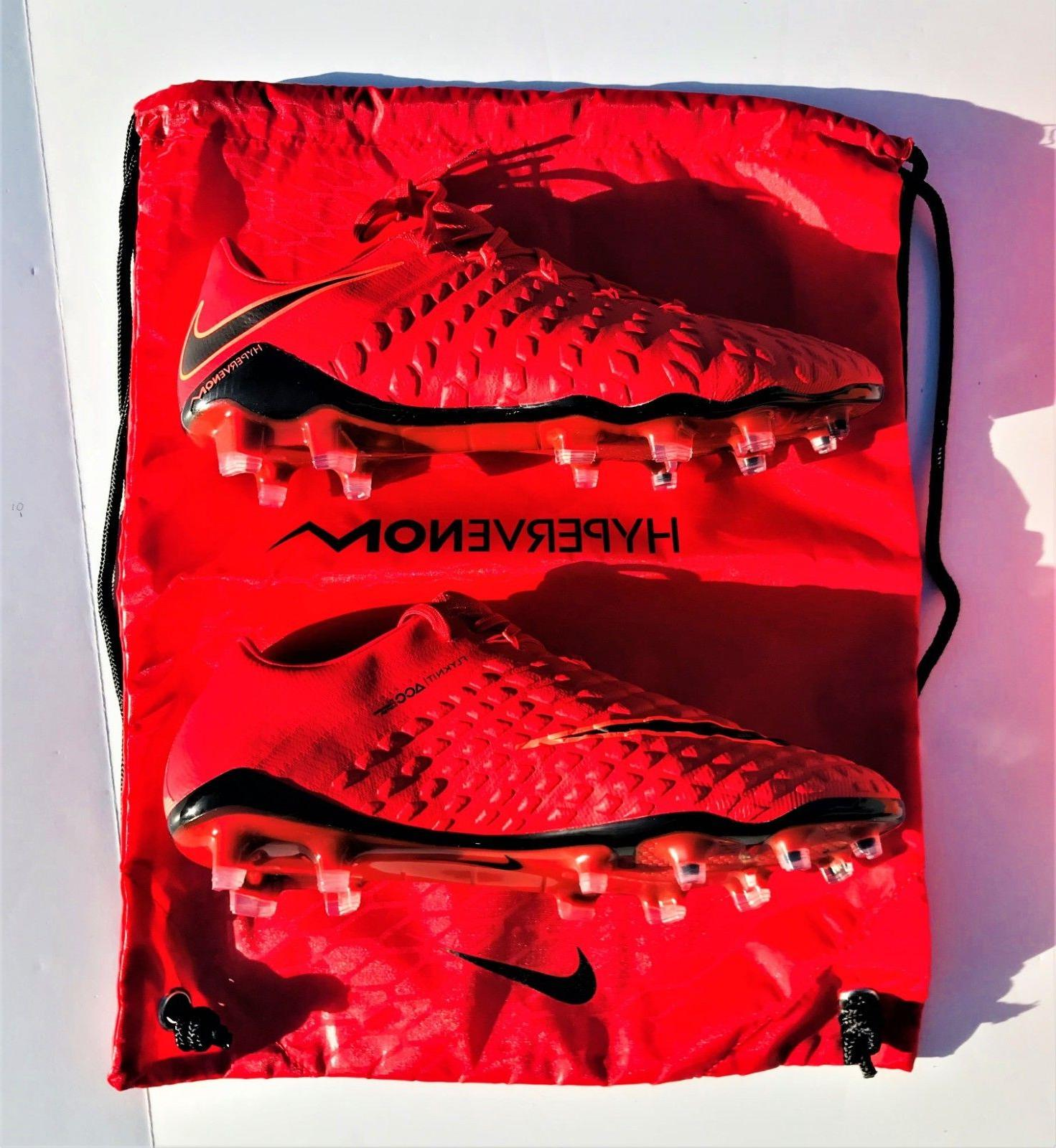 Nike FG Soccer Cleats Red Black 8