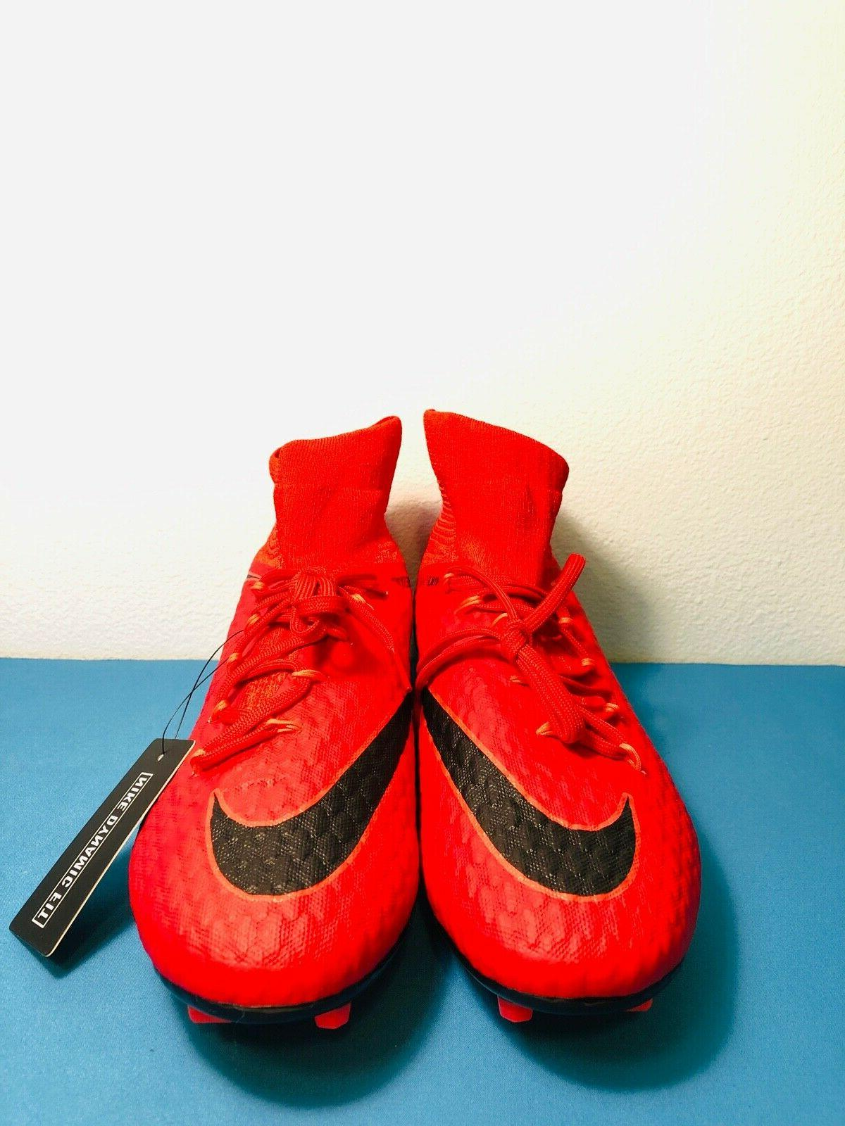 Nike Hypervenom Phatal 3 FG Soccer Cleats, Red Crimson MSRP $169.99