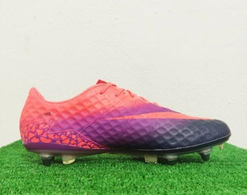 Nike Hypervenom Phinish SG PRO Soccer Cleats Orange Purple 768898-846