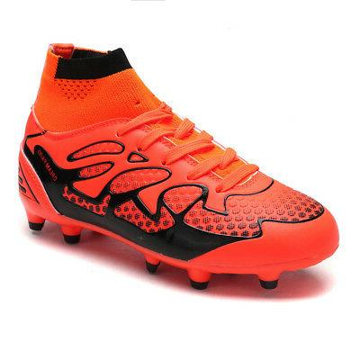DREAM PAIRS Kids Boys Outdoor Multi-Ground Soccer Cleat