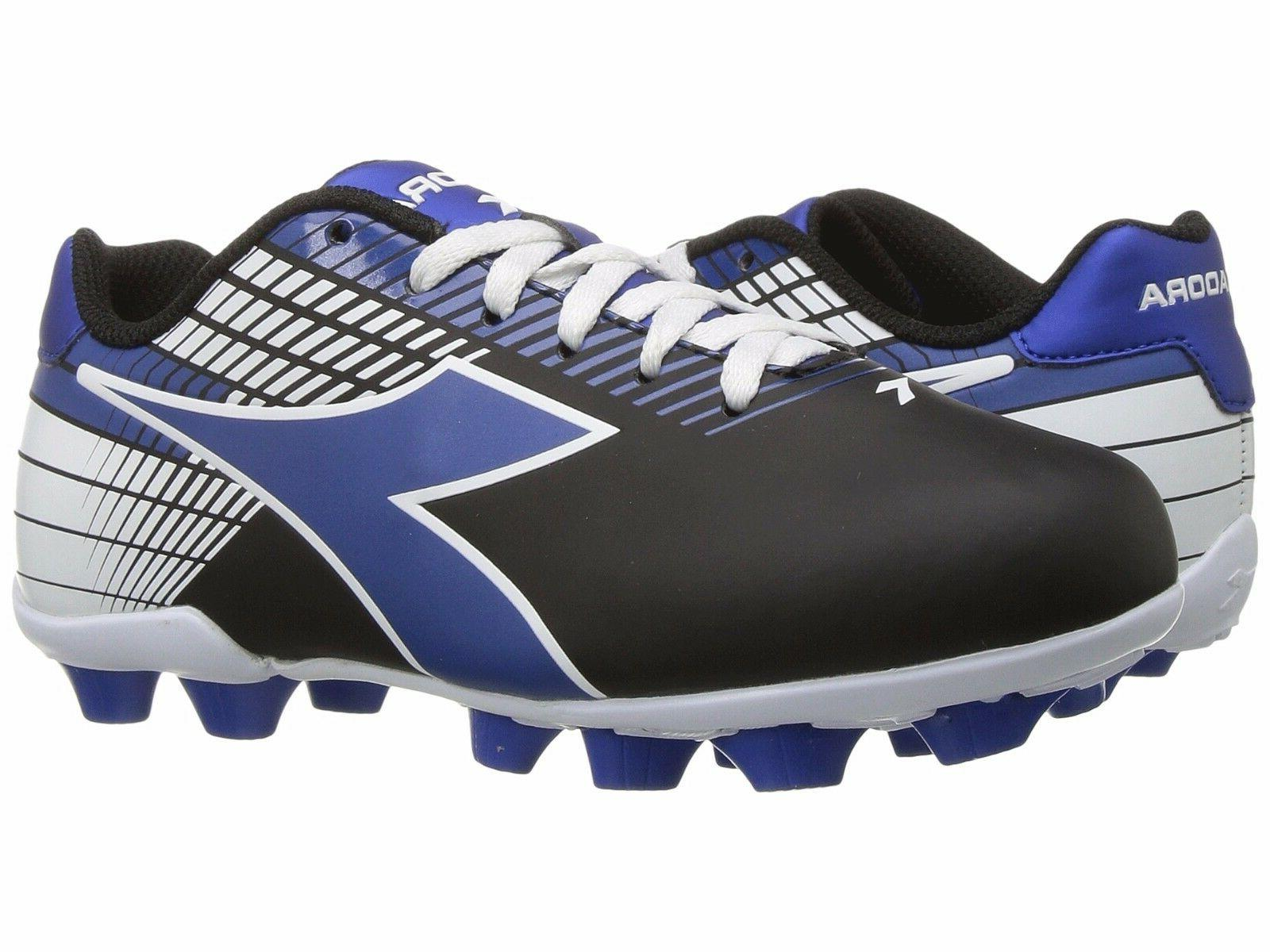 Diadora Ladro MD JR Soccer Cleats Black / Blue / White Toddl