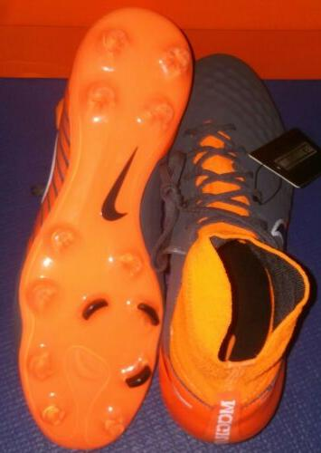 Nike Pro Cleats Grey Orange Black AH7308-080