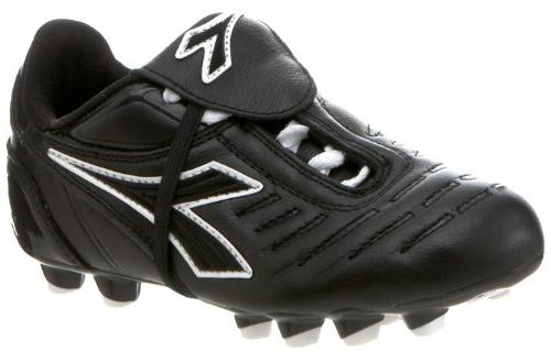 Diadora Maracana MD Soccer Shoe ,Black/Black,3 M US Little K