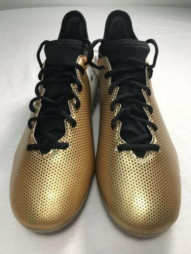 Men's Adidas X 17.3 FG Tech-Fit Soccer Cleats Gold/Black/Red