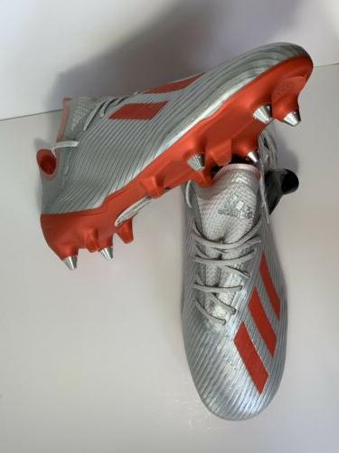 Men's Adidas SG Cleats Silver Metallic/ Size F35311 Boots