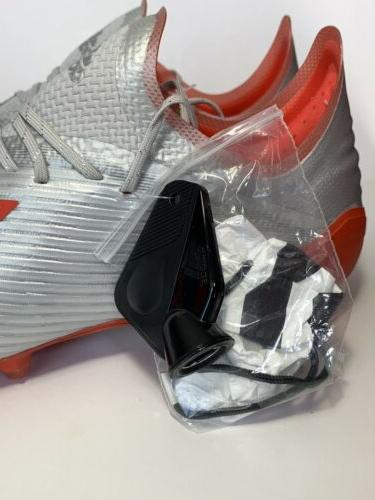 Men's Adidas X 19.1 SG Cleats Metallic/ Red 9 F35311 Boots