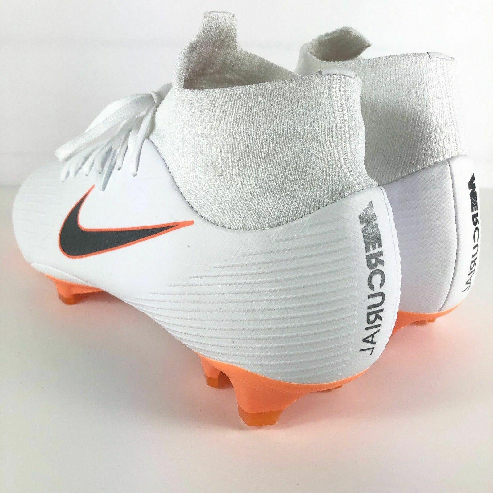 Nike VI Pro ACC Soccer White/Orange 10.5