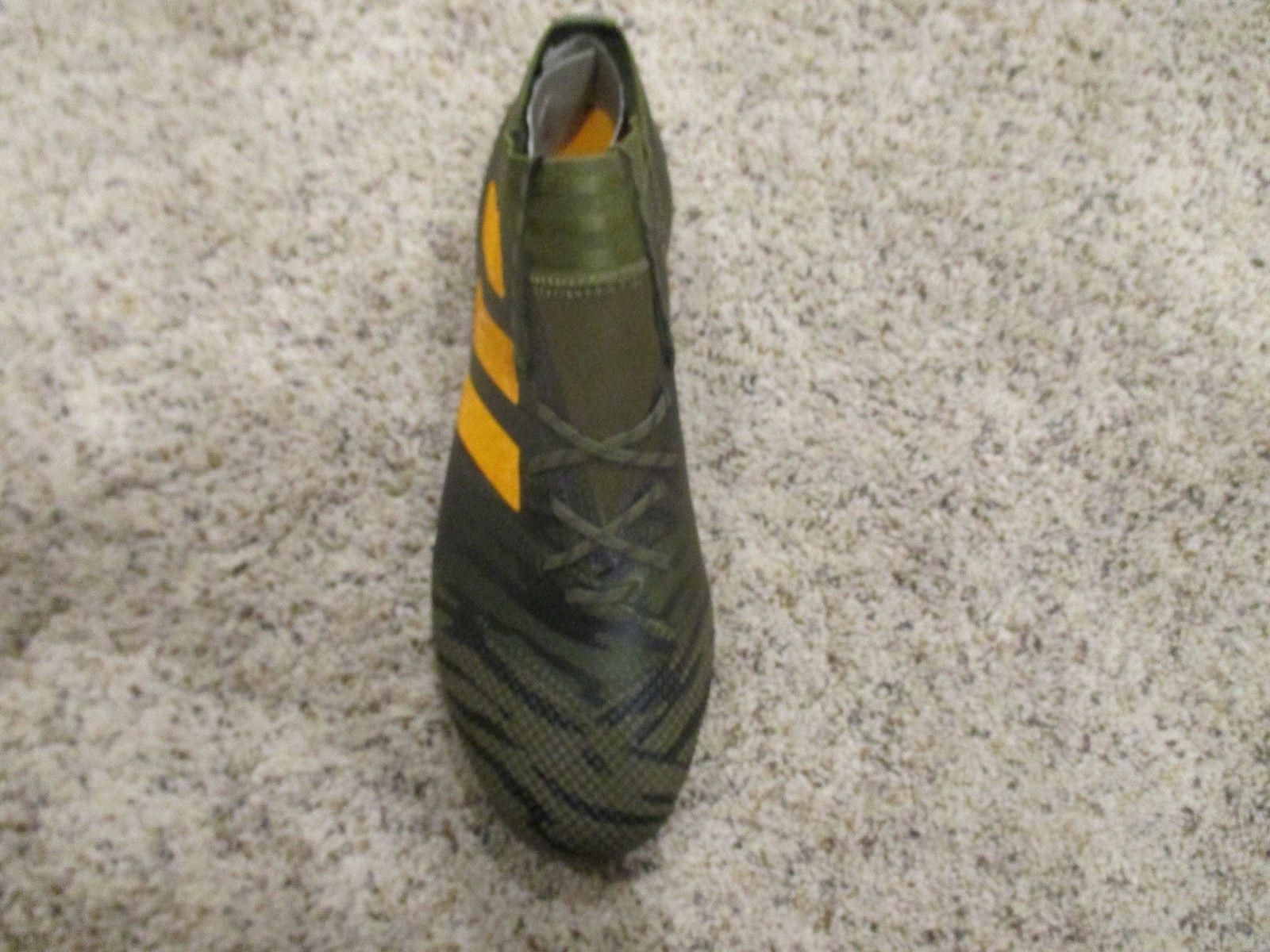 ADIDAS SOCCER CLEATS MILITARY OLIVE GREEN CP8936 SIZE 8.5