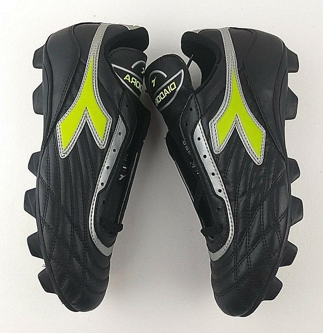 NEW!! Diadora RTX Soccer Black Yellow Assorted Sizes