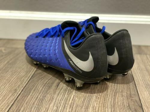 NEW Nike Men's Soccer Cleats Blue/Silver/Black Size 9