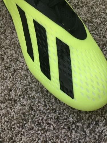 New Men's Adidas Black Yellow Cup Cleats