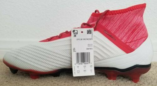 NEW Adidas Predator 18.2 FG Soccer Cleats Sz:10 Red Coral