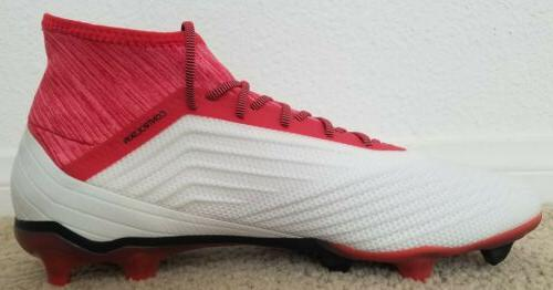 NEW Adidas FG Cleats Sz:10 Red Coral CM7666