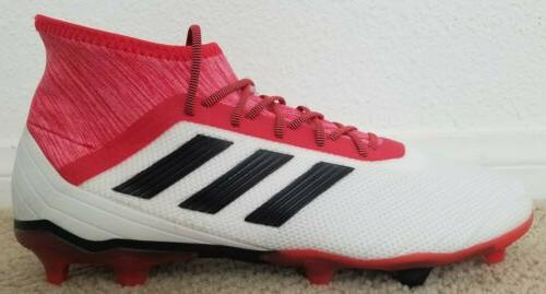NEW Predator 18.2 FG Cleats Men's Sz:10 Red Coral Black CM7666