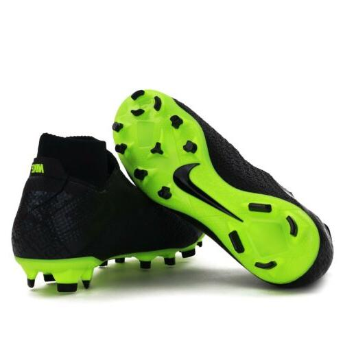 Nike Phantom Vision DF FG Black-Volt Cleats Size 12 AO3266-007