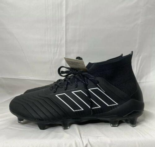 Adidas PREDATOR 18.1 FIRM GROUND CLEATS Soccer Shoes Black/W