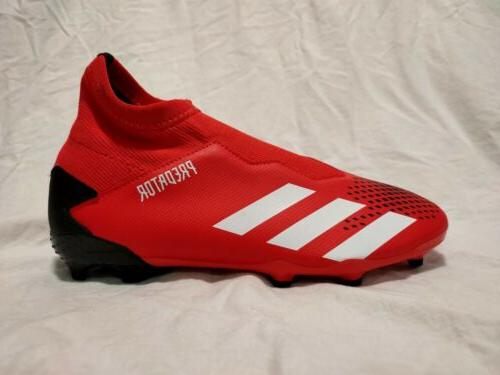 Adidas FG Size Laceless Soccer Red New