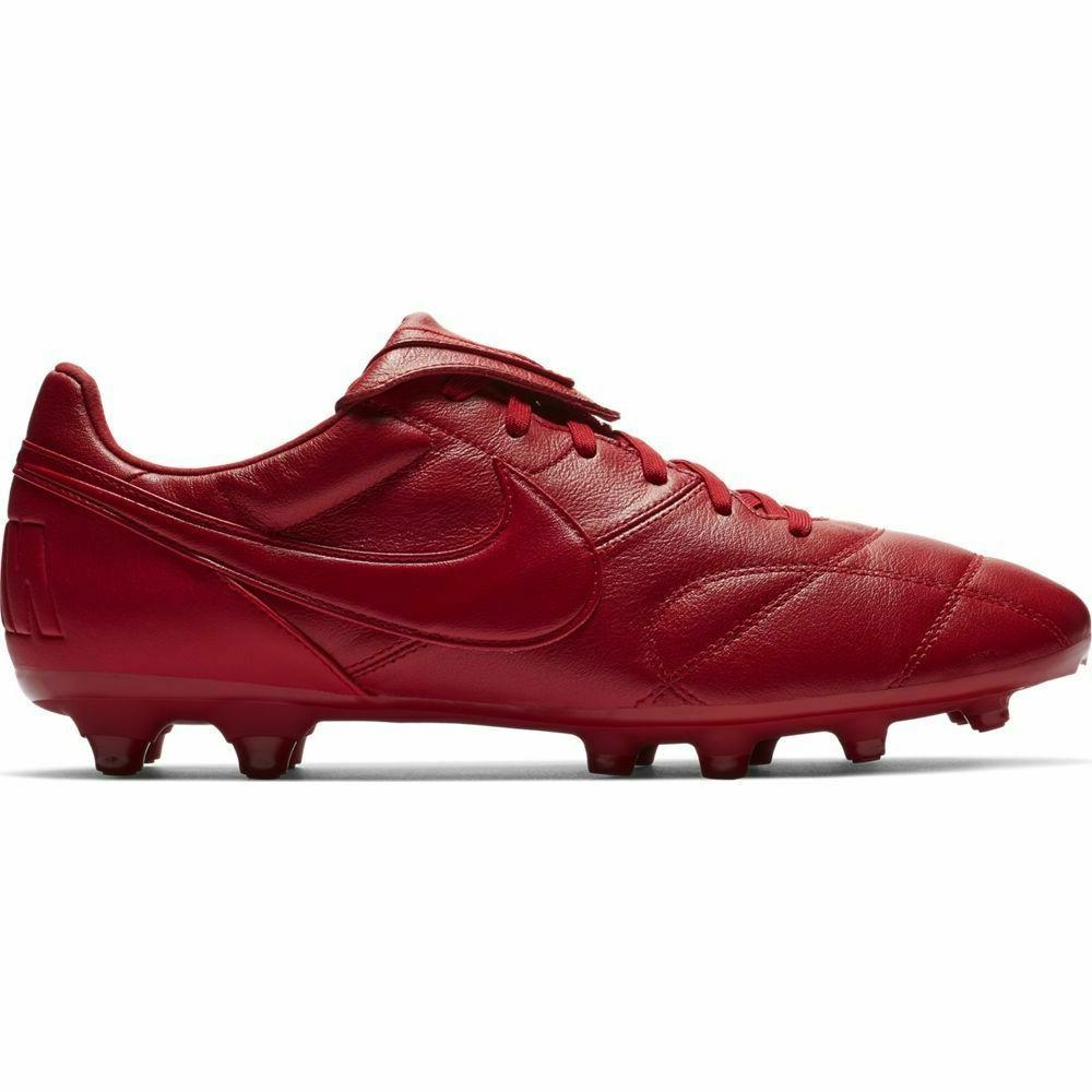 Nike Premier II Leather Soccer Red 7