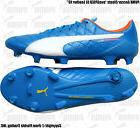 "PUMA Soccer Cleats ""evoSPEED SL Leather FG""electric blue lem"