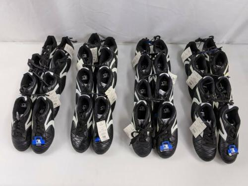 soccer cleats size 1 black 16 pairs