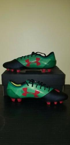 Under Armour Spotlight FG Soccer Cleats Size 11.5 Green/Blac