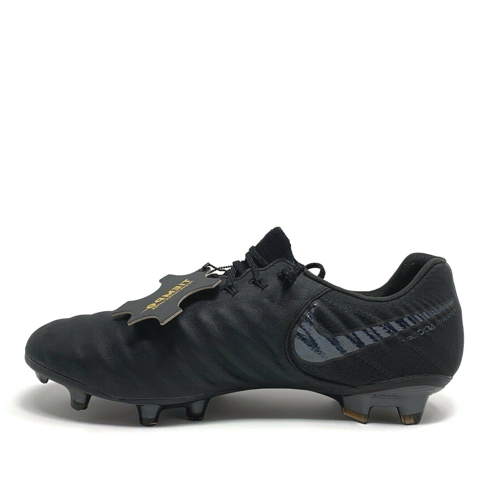 NIKE ELITE ACC SOCCER CLEATS BLACK SIZE
