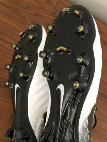 Nike Elite FG Soccer White/Black/Gold 8