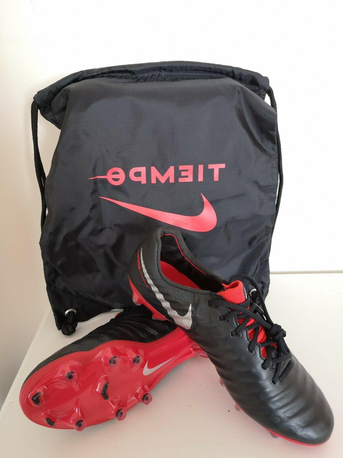 Nike Tiempo 7 VII Elite FG Black Red AH7238-006 Soccer Cleats w/