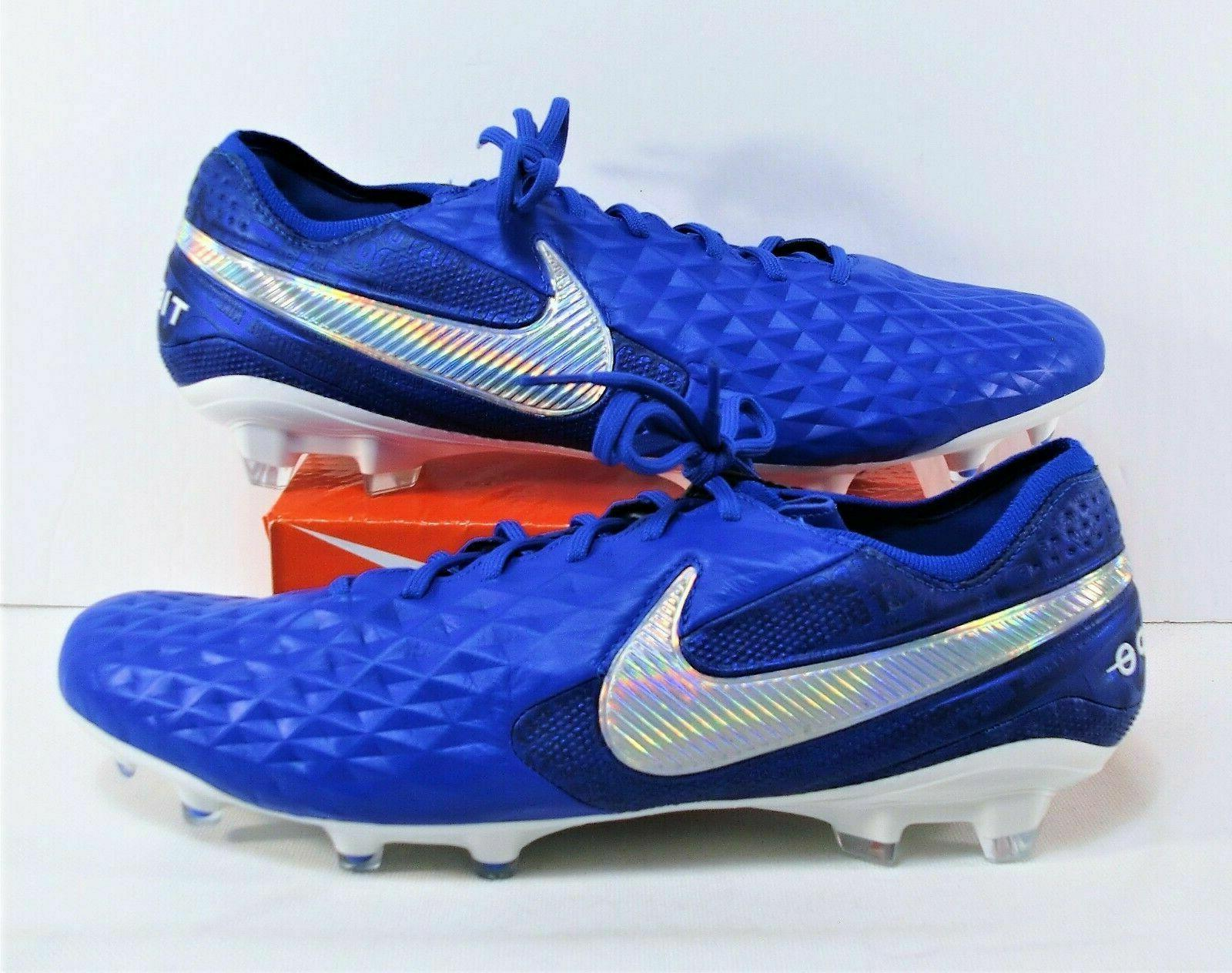 NIKE TIEMPO LEGEND 8 ELITE SOCCER CLEATS SIZE BLUE AT5293-414