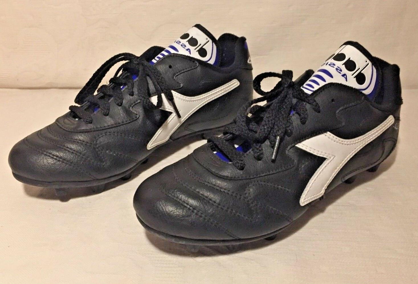 Youth/Men's Diadora Assist Ground Soccer Cleats Size 6 Roberto