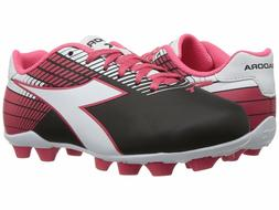 Diadora Ladro MD JR Soccer Cleats Black / White / Pink Toddl