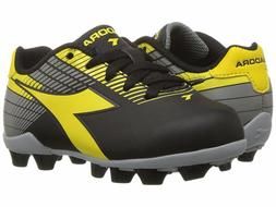 Diadora Ladro MD JR Soccer Cleats Black / Yellow / Grey Todd