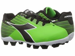 Diadora Ladro MD JR Soccer Cleats Lime Green / Black Toddler