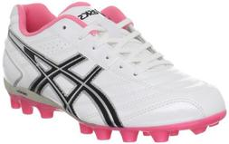 ASICS Lethal GS 4 Soccer Shoe ,White/Black,4 M US Big Kid