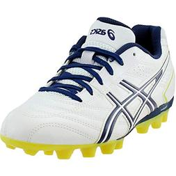 ASICS Lethal GS 4 Soccer Shoe ,White/Black,13 M US Little Ki