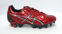 Asics Lethal Stats SK Red and Silver Soccer Cleats - Size 6