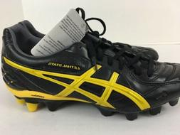 ASICS Lethal Stats Soccer Cleats Black Yellow Mens Size 10.5