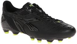 Diadora Men's Maracana L Soccer Cleat, Black/Fluorescent Yel