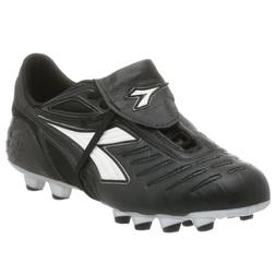 Diadora Women's Maracana MD PU Women's Soccer Cleat,Black/Wh