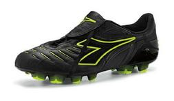 Diadora Maracana RTX 12 Soccer Cleats, Size 7, Black/Yellow