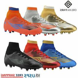 DREAM PAIRS Kids Soccer Shoes Boys Girls Outdoor Athletic Fo