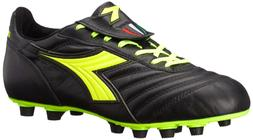 Diadora Men's Brasil S.P.A-M, Black/Yellow 12.5 M US