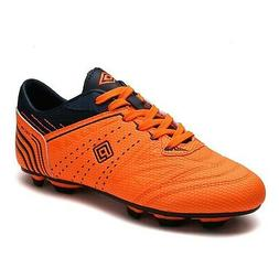 DREAM PAIRS Men's Cleats Football Soccer Shoes Orange Navy 9