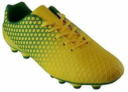Cambridge Select Men's Lace-Up Soccer Cleats Yellow/Green 8