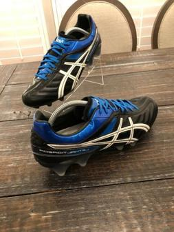 ASICS Lethal Tigreor Soccer Football Cleats Black White Blue