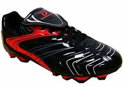 D Power Men's Soccer Cleats 8 Black/Red