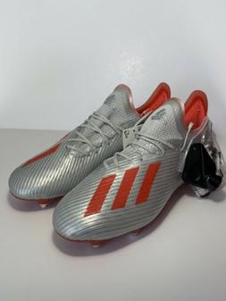 Men's Adidas X 19.1 SG Soccer Cleats Silver Metallic/ Red Si