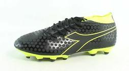 Diadora Mens Black, Fluo Yellow Soccer Cleats Size 11
